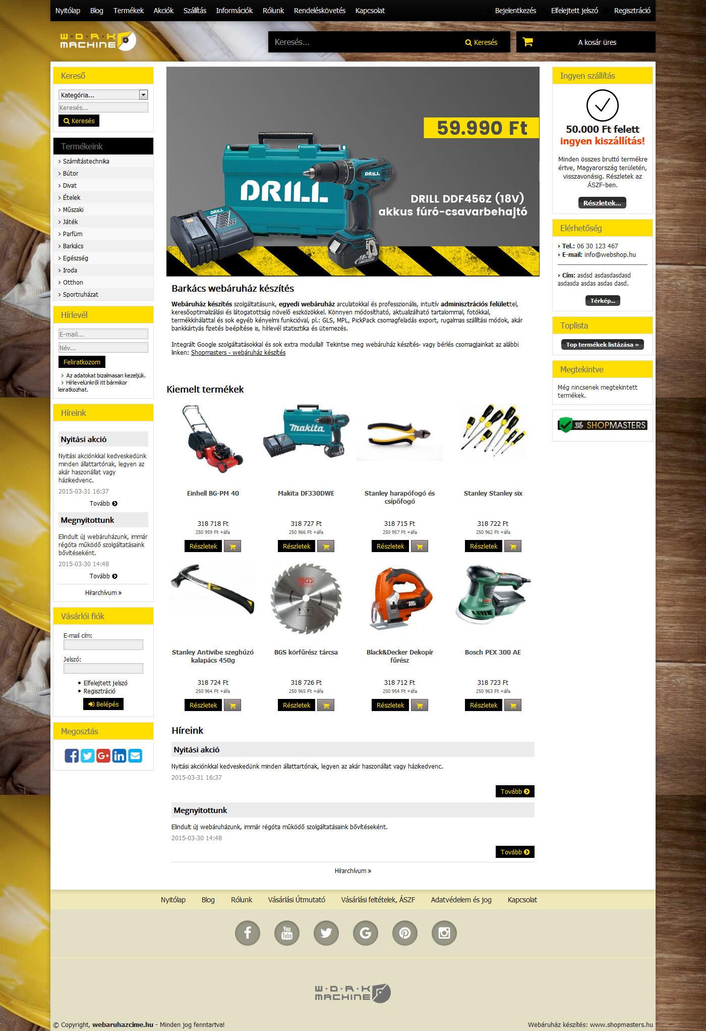 Moderate webáruház webdesign, arculat