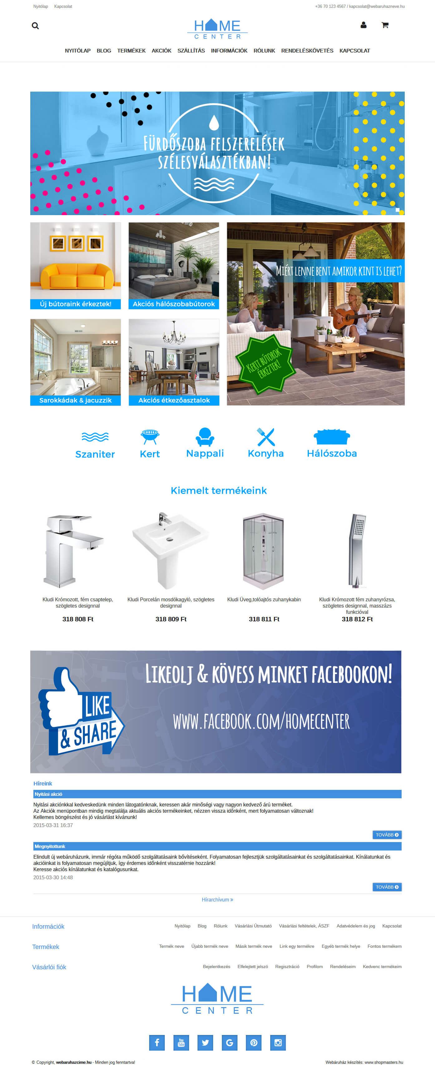 CleanHome webáruház webdesign, arculat