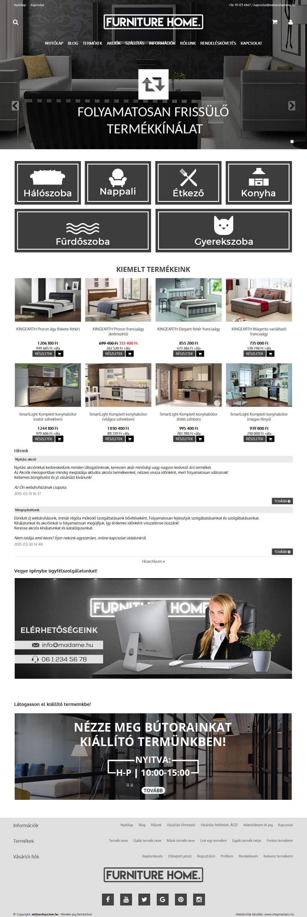 NewYork webáruház webdesign, arculat