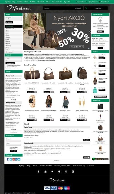 Webáruház készítés - design