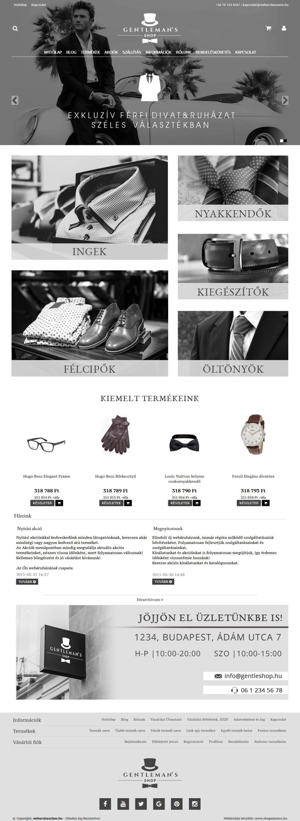 Agency webáruház webdesign, arculat
