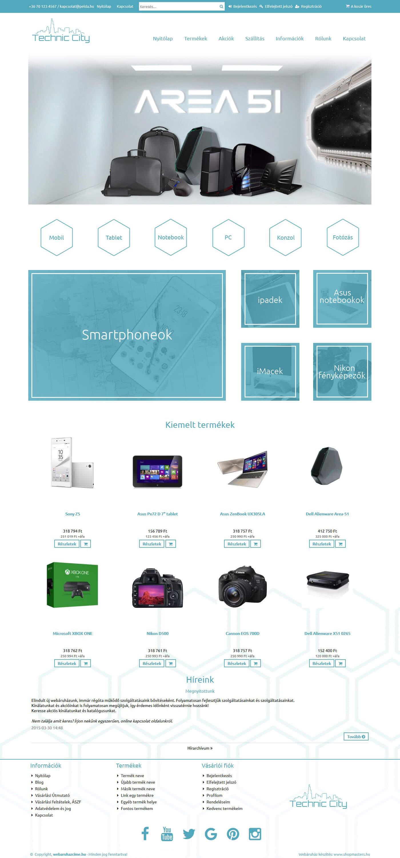 Future webáruház webdesign, arculat