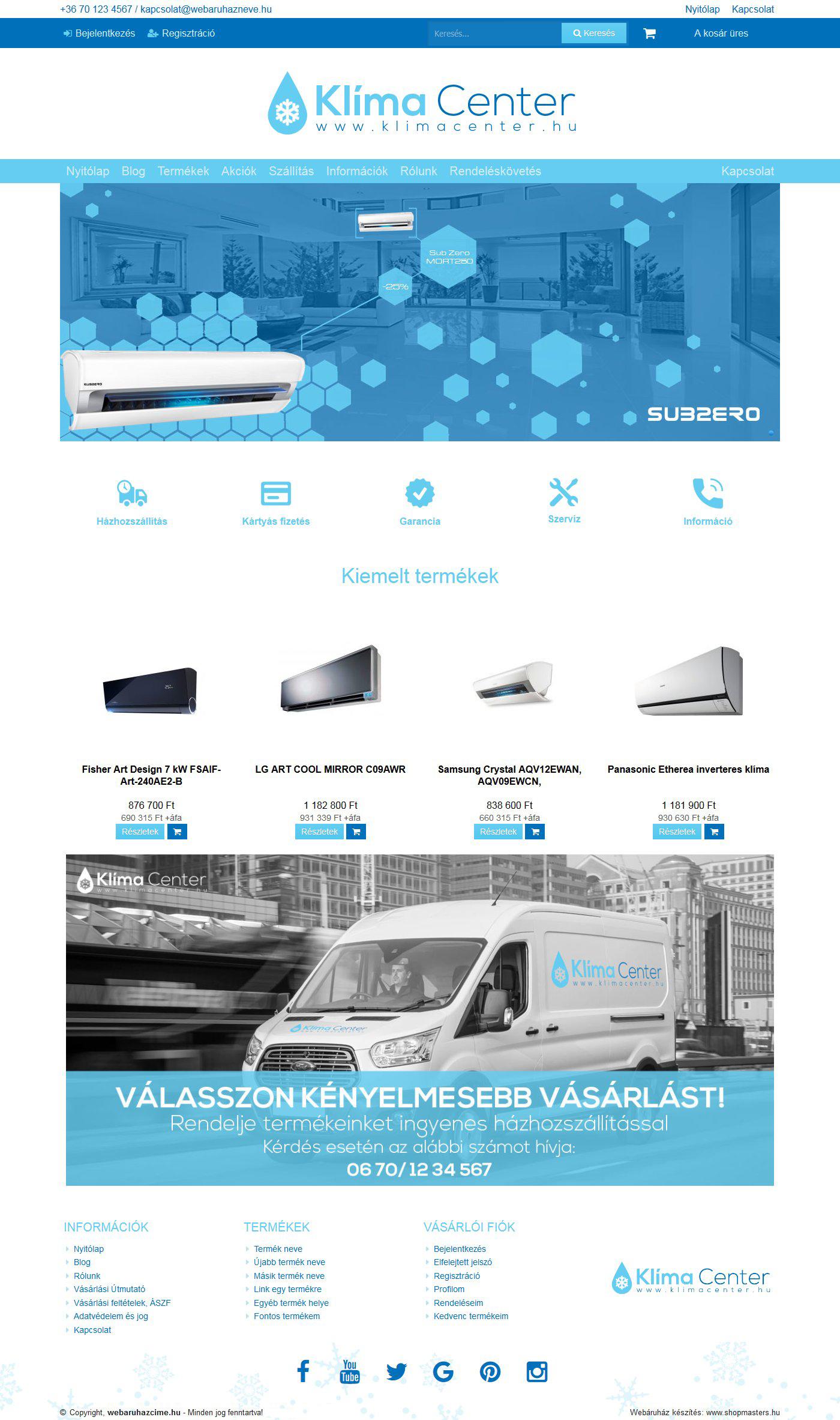 Ice webáruház webáruház webdesign, arculat
