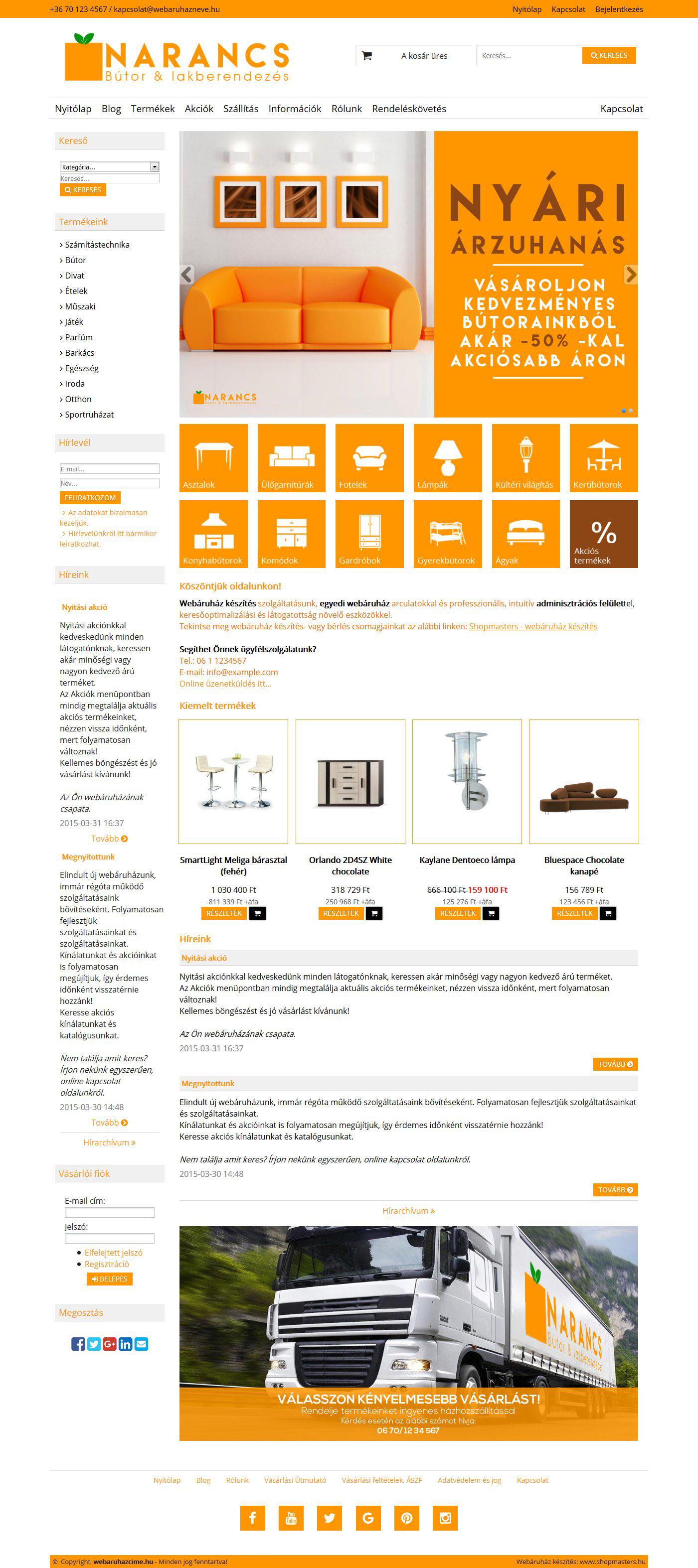 OrangeBox webáruház webáruház webdesign, arculat